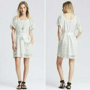Banana Republic White July Lace Dress $130 Medium